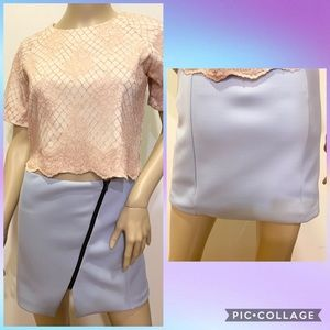 NWOT Wells Grace Sky Blue Mini Skirt XS